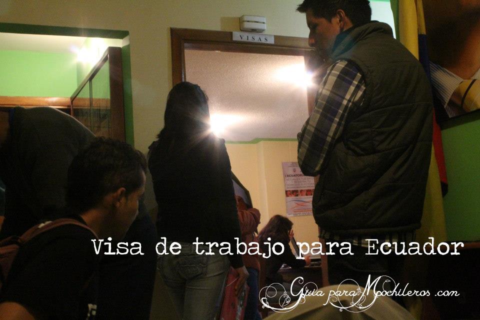 Visa de trabajo en Ecuador para mochilero
