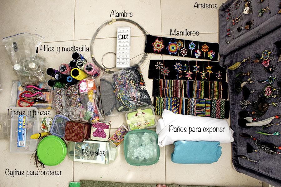 Materiales para viajar haciendo artesanías