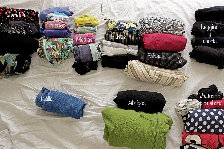 ropa para llevar a un viaje