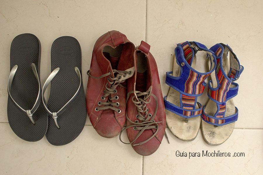 zapatos para viaje