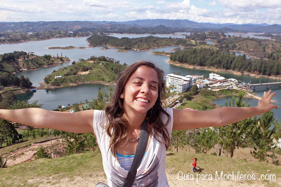 Yo y la represa de Guatapé