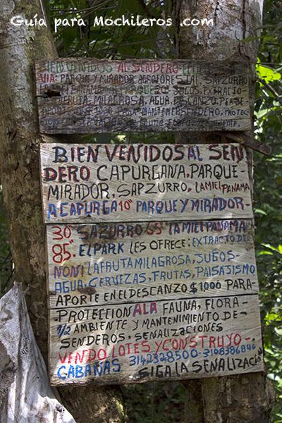 letrero Capurgana Sapzurro copy