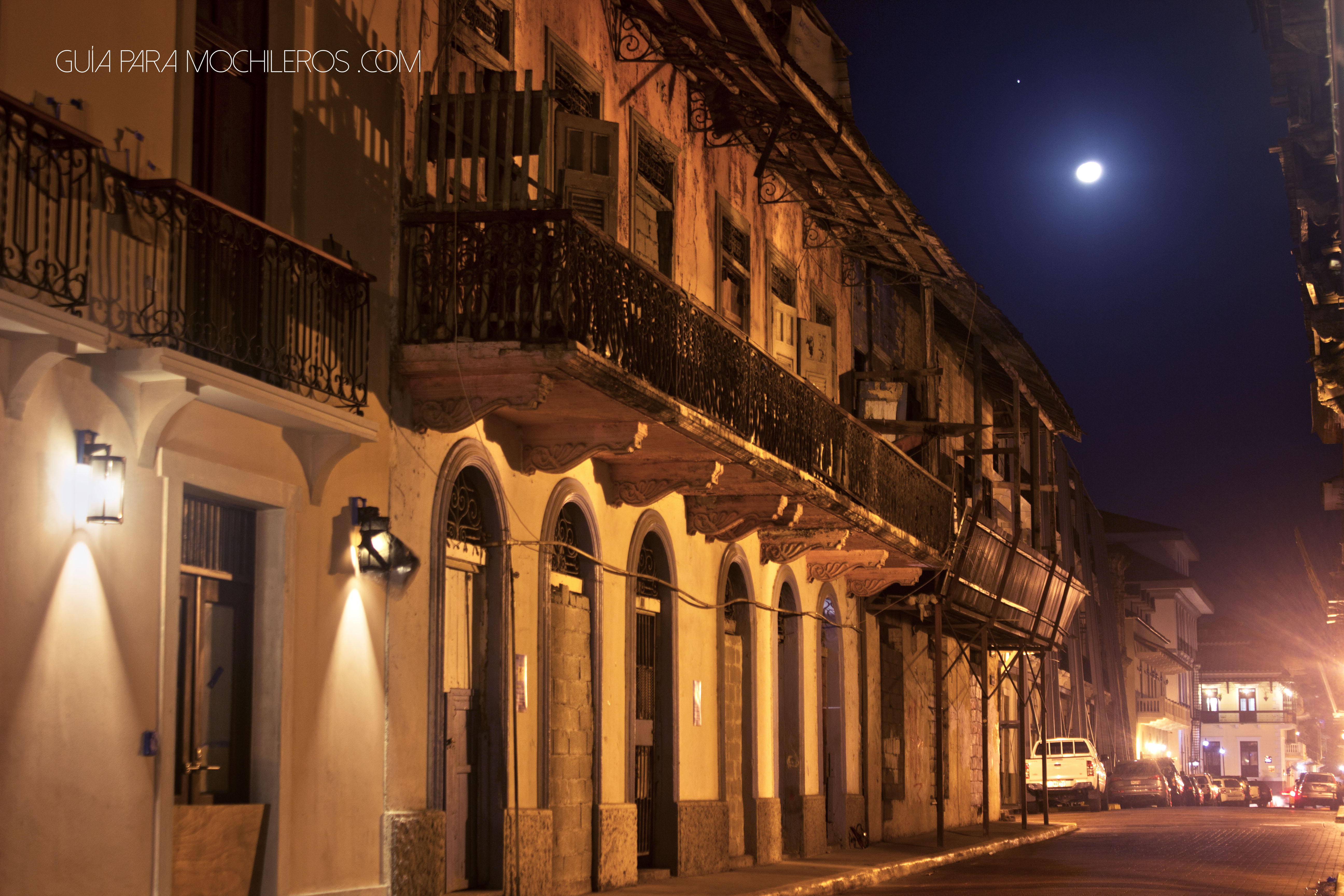 Casco antiguo Panamá noche