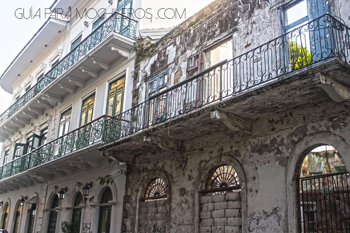 Contraste en Casco viejo de Panamá