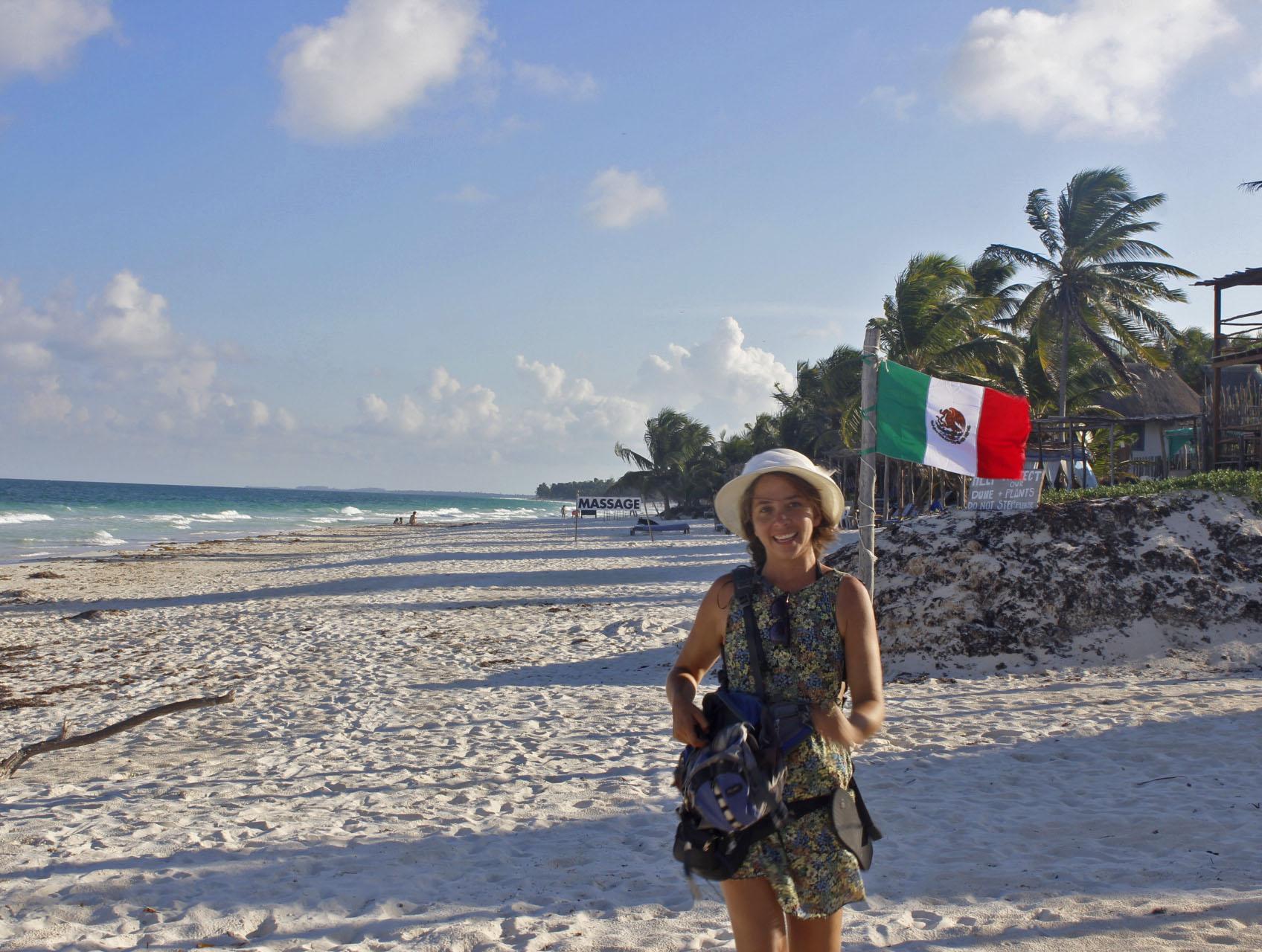 mochilera en Mexico