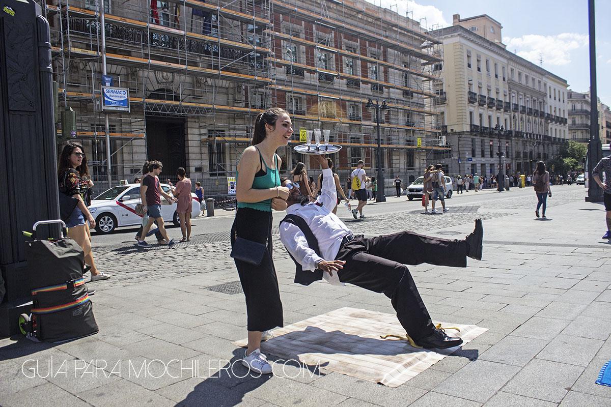 estatuas vivas en las calles de Madrid