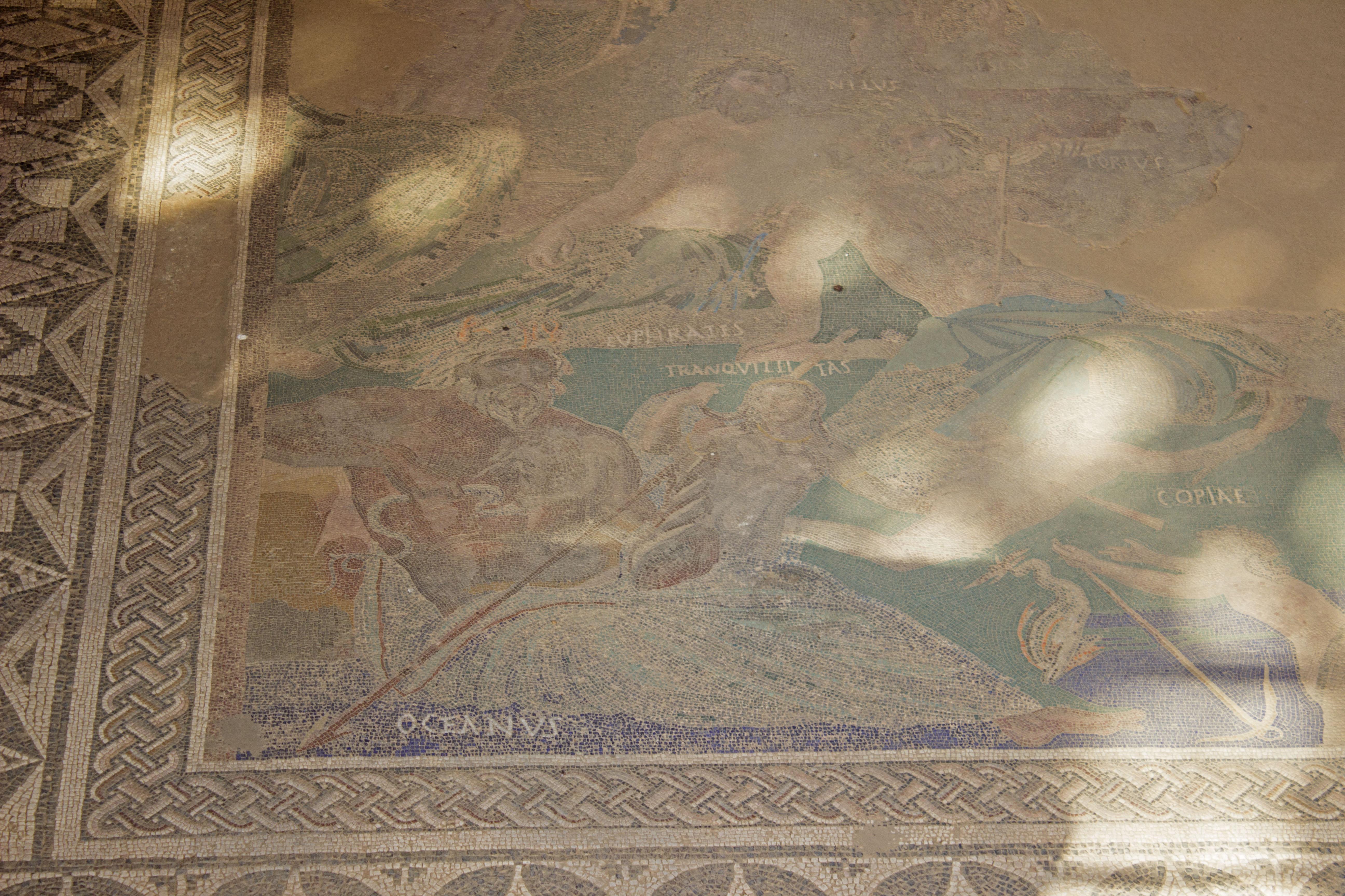 Mosaico Casa de Mitreo, Mérida, España