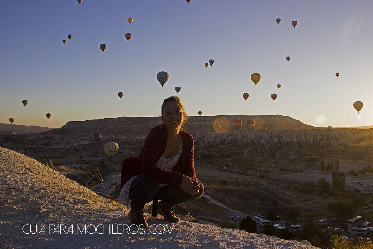 Amanecer con los globos de Capadocia