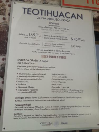 precios teotihuacan